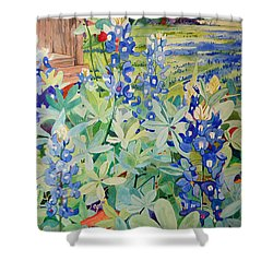 Bluebonnet Beauties Shower Curtain