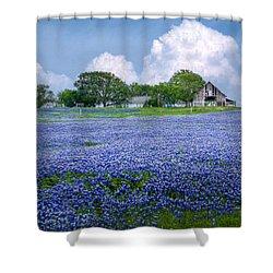 Bluebonnet Farm Shower Curtain