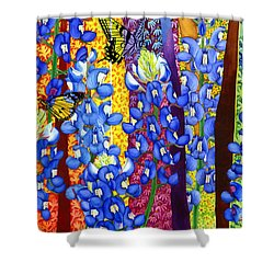Bluebonnet Garden Shower Curtain