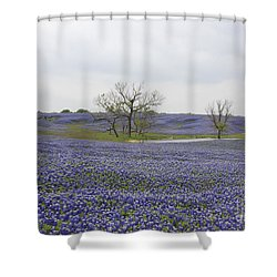 Bluebonnet Oasis Shower Curtain