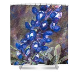 Bluebonnets Shower Curtain by Julie Maas