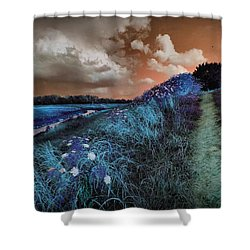 Bluegrass Shower Curtain by Linda Unger