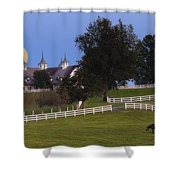 Bluegrass Moonrise Shower Curtain