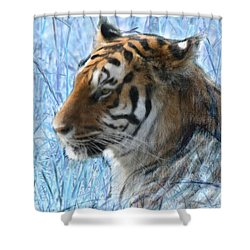 Bluegrass Tiger Shower Curtain