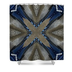 Bluejay Feathers Shower Curtain