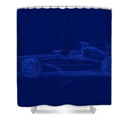 Blueprint For Speed Shower Curtain