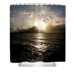 Shower Curtain featuring the photograph Blues @ Evening by Amar Sheow