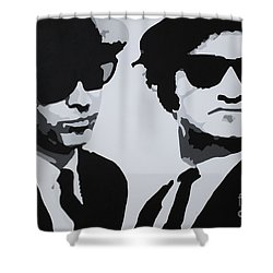 Blues Brothers Shower Curtain by Katharina Filus