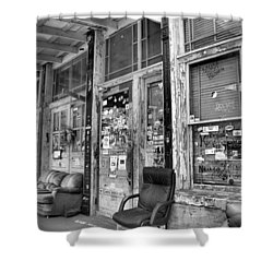 Blues Club In Black And White Shower Curtain