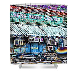 Blues Club In Clarksdale Shower Curtain