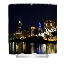 Blues In Cleveland Ohio Shower Curtain