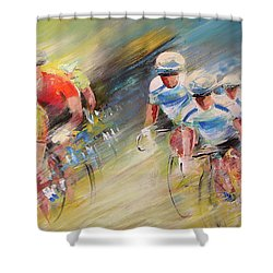 Blues United Shower Curtain
