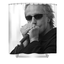 Bluesman James Montgomery Shower Curtain