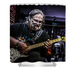 Bluesman Shower Curtain by Ray Congrove