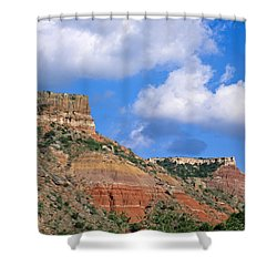 Bluffs In The Glass Mountains Shower Curtain