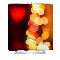 Blurred Christmas Lights Shower Curtain by Gaspar Avila