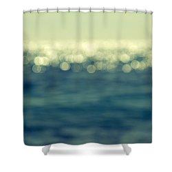 Blurred Light Shower Curtain