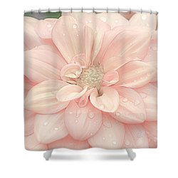 Blushing Dahlia Shower Curtain