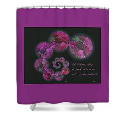 Shower Curtain featuring the photograph Blustery Day Haiga by Judi and Don Hall