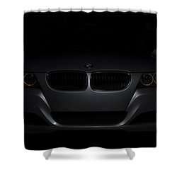 Bmw Car In Black Background Shower Curtain