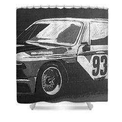 Bmw 3.0 Csl Alexander Calder Art Car Shower Curtain