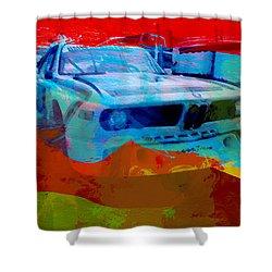 Bmw Laguna Seca Shower Curtain by Naxart Studio