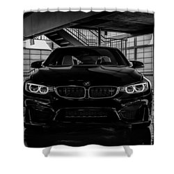 Shower Curtain featuring the digital art Bmw M4 by Douglas Pittman