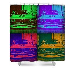 Bmw Racing Pop Art 1 Shower Curtain by Naxart Studio