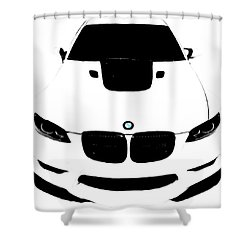 Bmw White Shower Curtain by J Anthony