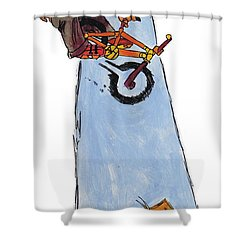 Bmx Drawing Shower Curtain