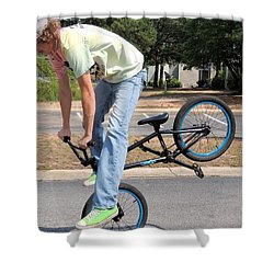 Bmx Rider Shower Curtain