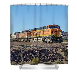Bnsf 7649 Shower Curtain by Jim Thompson
