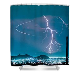 Bo Trek The Lightning Man Shower Curtain