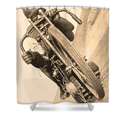 Board Track Racer Shower Curtain
