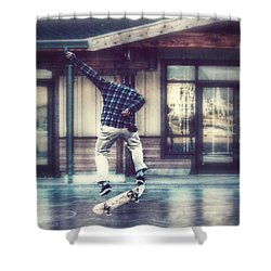 Boarder Bliss Shower Curtain