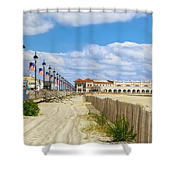 Boardwalk And Music Pier Shower Curtain
