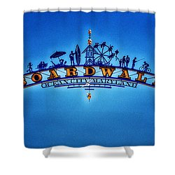 Boardwalk Arch In Ocean City Shower Curtain