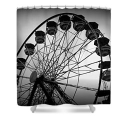 Shower Curtain featuring the photograph Boardwalk Beauty by Laurie Perry