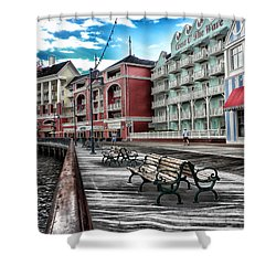 Boardwalk Early Morning Shower Curtain