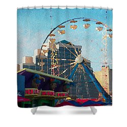 Boardwalk Ferris  Shower Curtain by Alice Gipson