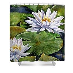 Boardwalk Lilies Shower Curtain