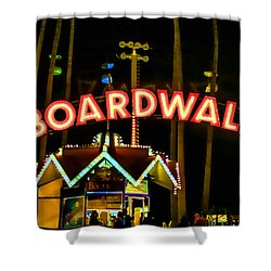 Boardwalk Shower Curtain by Digital Kulprits