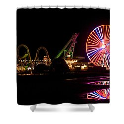 Boardwalk Night Shower Curtain