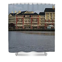 Boardwalk Panorama Walt Disney World Shower Curtain