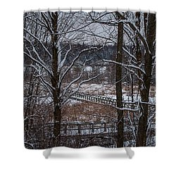 Shower Curtain featuring the photograph Boardwalk Series No3 by Bianca Nadeau
