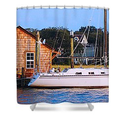 Boat At Shem Creek By Jan Marvin Shower Curtain