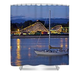 Boat At Twilight Shower Curtain