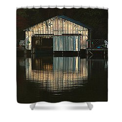 Boat House Effects Shower Curtain by Tammy Schneider