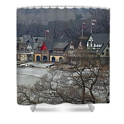 Philadelphia's Boat House Row  Shower Curtain