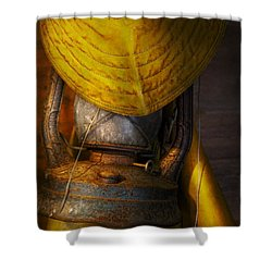 Boat - It Was A Dark And Stormy Night Shower Curtain by Mike Savad